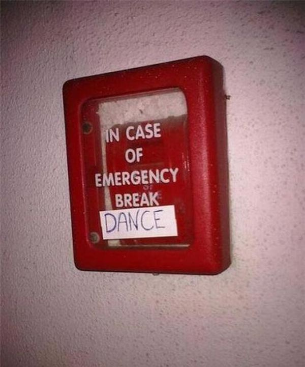 In Case Of Emergency Note That is Hilarious