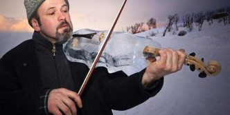Freezed Violin That You Never Seen Before