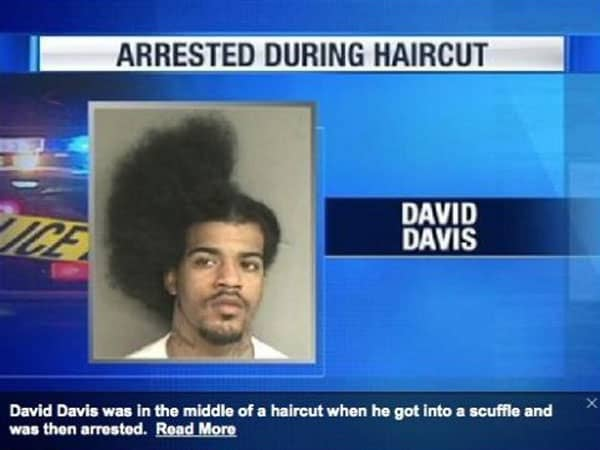 Arrested During Haircut Picture Will Make You LOL