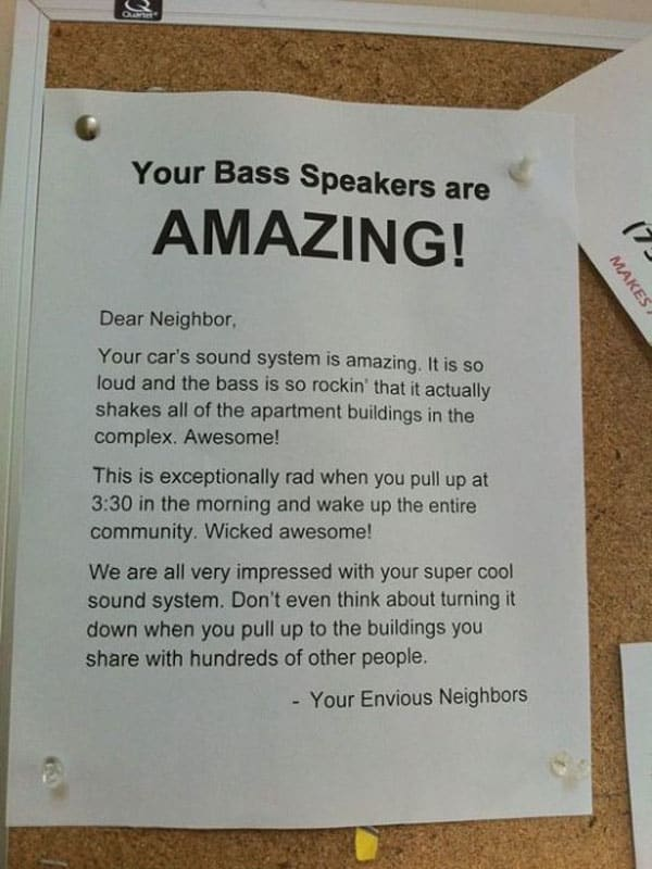 Your Bass Speakers Are Amazing - Funnies Letter