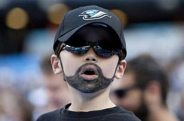 I Am Mature Now - Funny Kid with Beard and Moustache