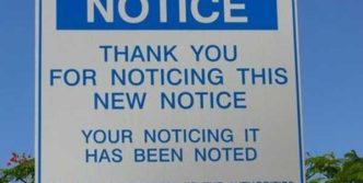 Funny Image Of Notice Has Been Noted