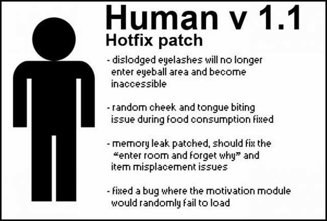 Funny Picture Of Human hotfix patch