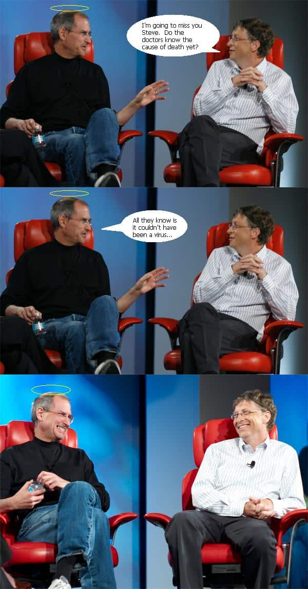 Steve Jobs And Bill Gates Funny Conversation Will Make You Laugh