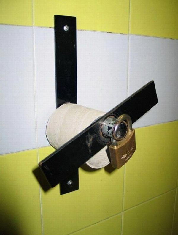 Epic Fail Toilet Paper Lock That Will Make You Laugh