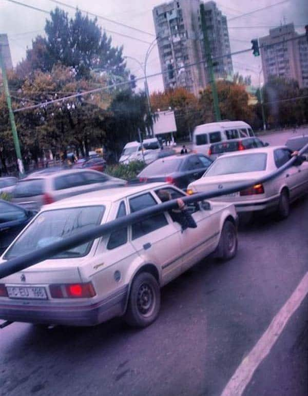 How To Transport A Long Pipe - Funniest Transportation of Pipe