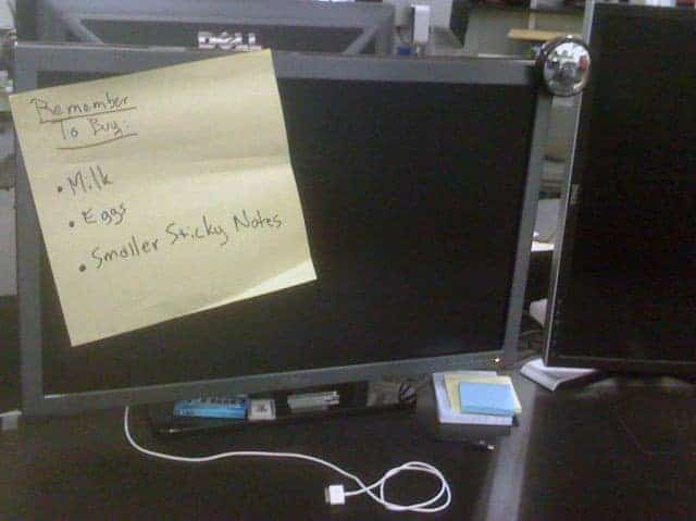Funny Sticky Notes On LCD