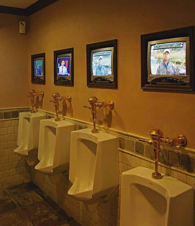 Funny Urinal With Television That Might Be Luxurious