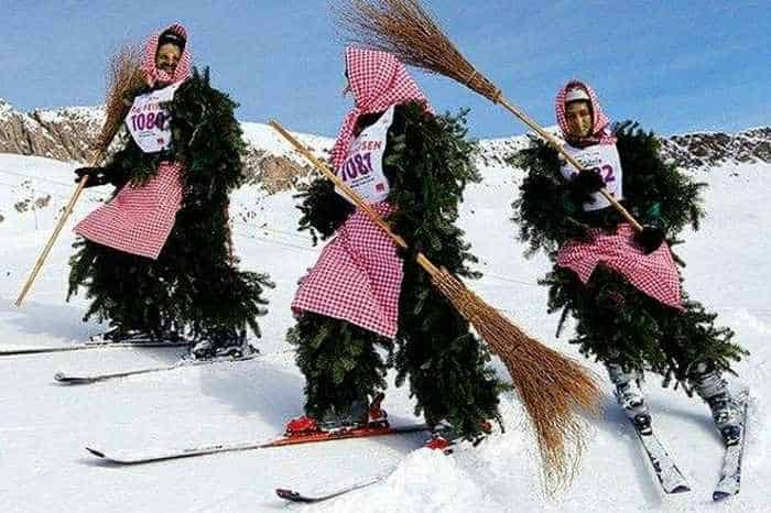 Meanwhile Skiing Funny Witches  In Switzerland-04