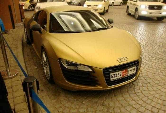 Awesome Gold Audi R8 Car Of The Day - 4 Pics -01