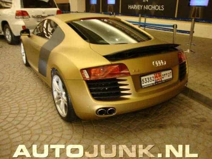 Awesome Gold Audi R8 Car Of The Day - 4 Pics -03