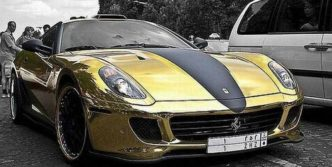 Awesome Gold Ferrari 599 GTB – 18 Photos