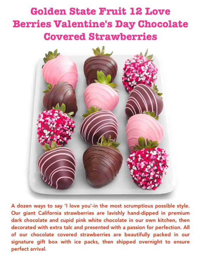 Golden State Fruit Love Berries Valentine's Day Chocolate