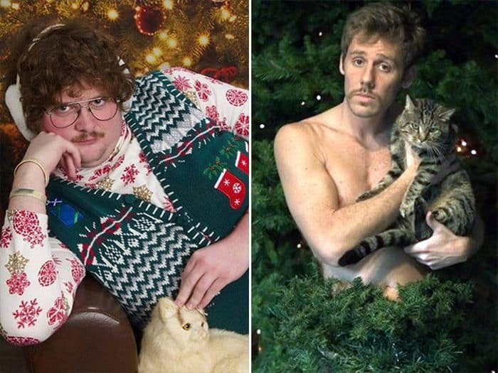 20 Hilarious Christmas Portraits With Pets That Will Make Your Day -19