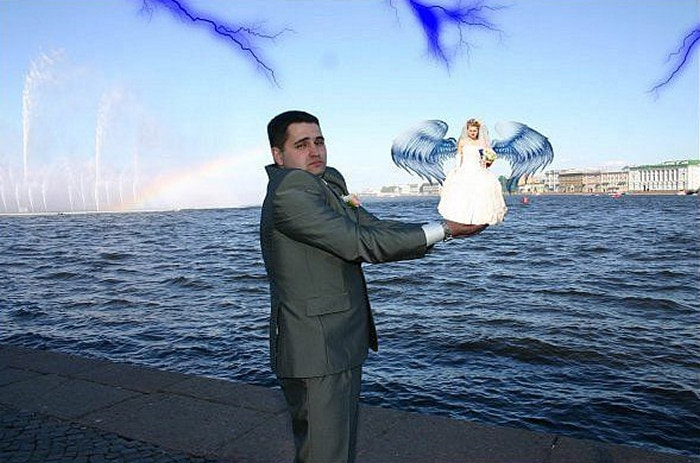 Hilarious Photoshopped Russian Wedding Photos (24 Pics)-17