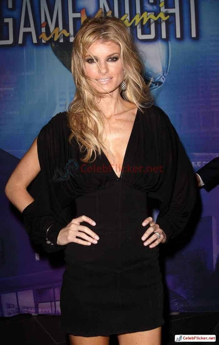 Marisa Miller in Sexy Black Mini Dress -01
