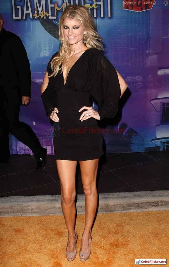 Marisa Miller in Sexy Black Mini Dress -04