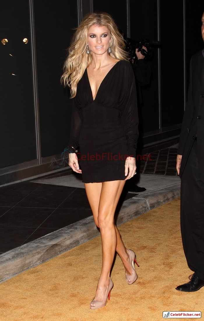 Marisa Miller in Sexy Black Mini Dress -11