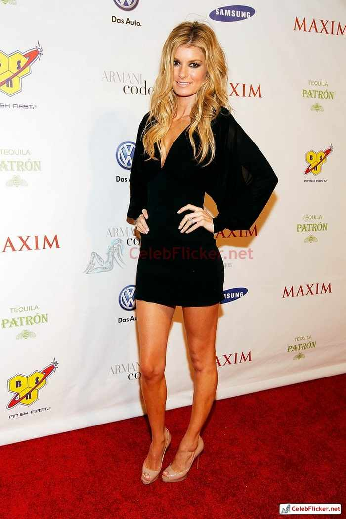 Marisa Miller in Sexy Black Mini Dress -14