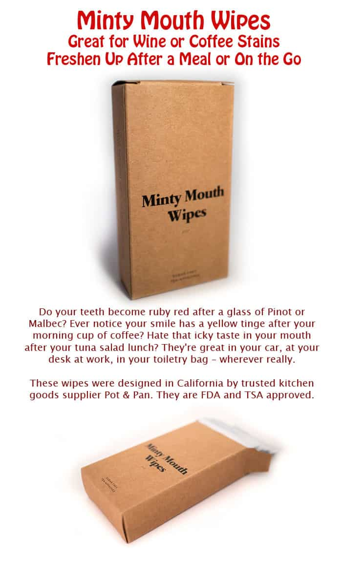 Minty Mouth Wipes – Great for Wine or Coffee Stains – Freshen Up After a Meal or On the Go