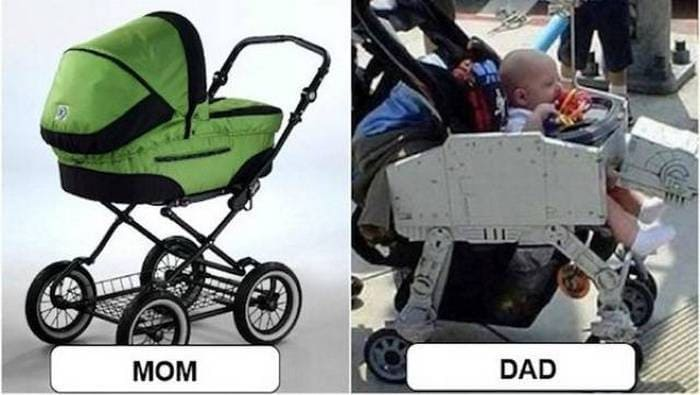 27 Mom Vs Dad Parenting Photos That Will Shock You-14