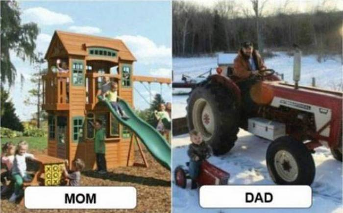 27 Mom Vs Dad Parenting Photos That Will Shock You-15