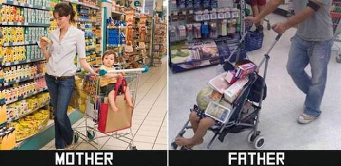 27 Mom Vs Dad Parenting Photos That Will Shock You-16