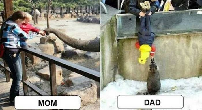 27 Mom Vs Dad Parenting Photos That Will Shock You-17