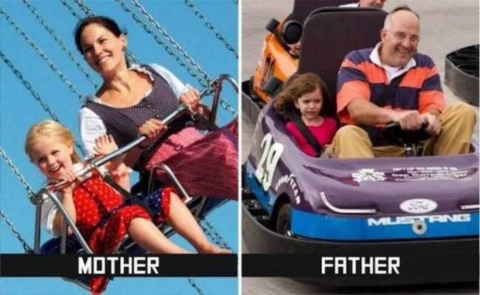27 Mom Vs Dad Parenting Photos That Will Shock You-18
