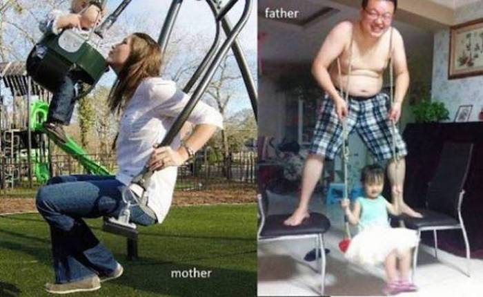 27 Mom Vs Dad Parenting Photos That Will Shock You-21