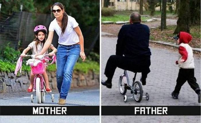 27 Mom Vs Dad Parenting Photos That Will Shock You-22