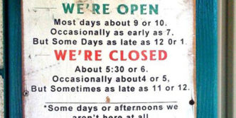 Odd Business Hours That Will Shock You