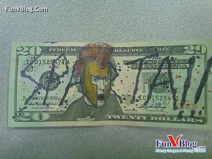 Hilarious And Funny Painted Dollars - 11 Pics -02
