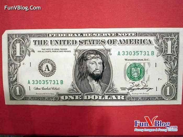 11 Mind-blowing Funny Paintings on US Dollar Bill -12