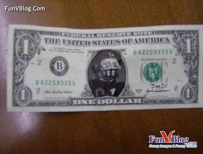 11 Mind-blowing Funny Paintings on US Dollar Bill -14
