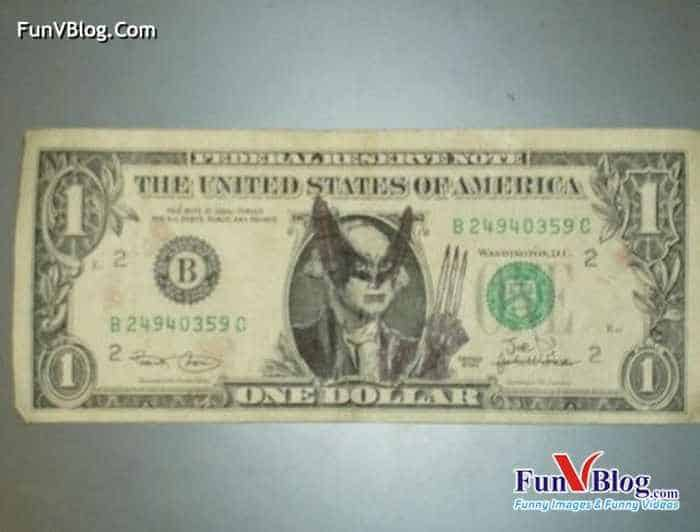 11 Mind-blowing Funny Paintings on US Dollar Bill -16