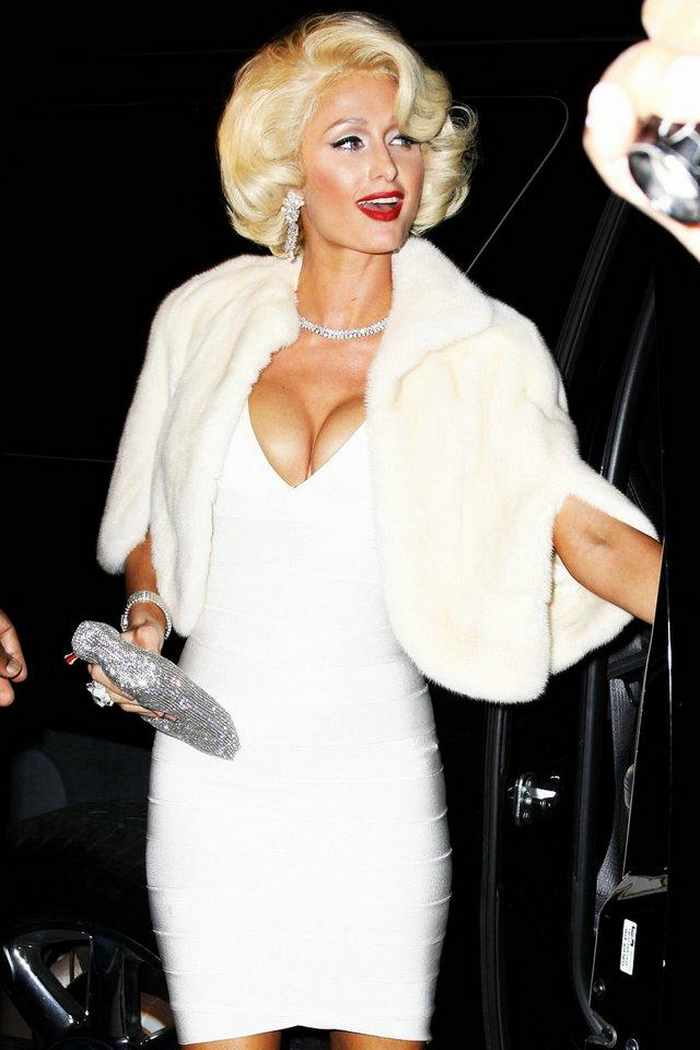 paris hilton looks beautiful in marilyn monroe look