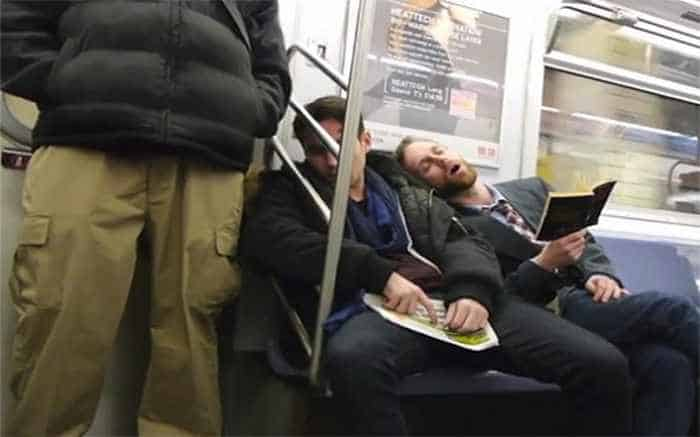 Meanwhile 30 Funny People Sleeping At Subway Will Make You LOL -04