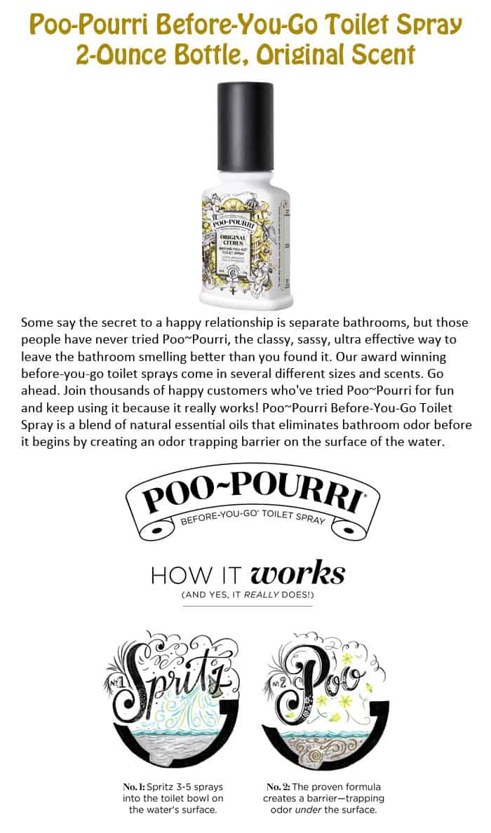Poo-Pourri Before-You-Go Toilet Spray 2-Ounce Bottle, Original Scent