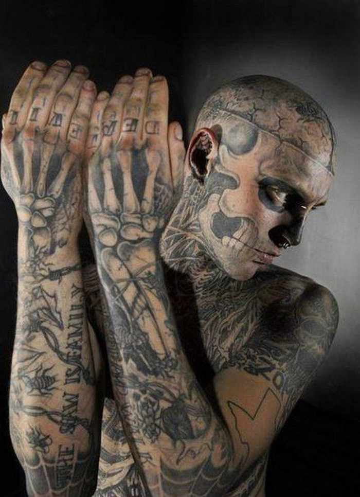 Zombie Boy Rick Genest : Full Body Covered With Tattoo-02