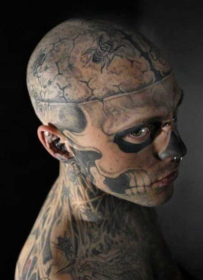 Zombie Boy Rick Genest : Full Body Covered With Tattoo-08