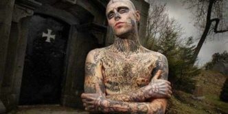 Zombie Boy Rick Genest : Full Body Covered With Tattoo
