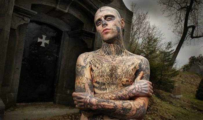 Zombie Boy Rick Genest : Full Body Covered With Tattoo-10