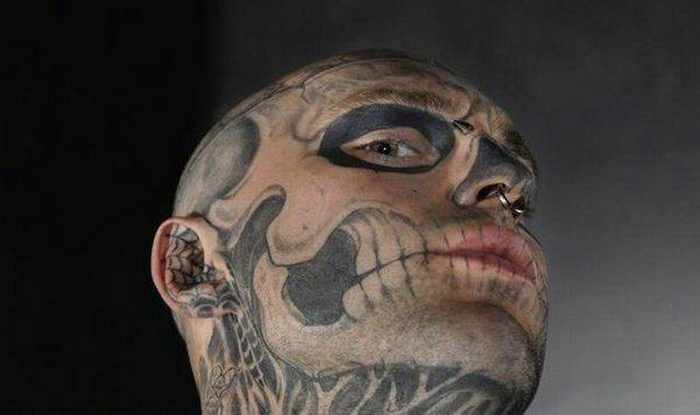 Zombie Boy Rick Genest : Full Body Covered With Tattoo-12