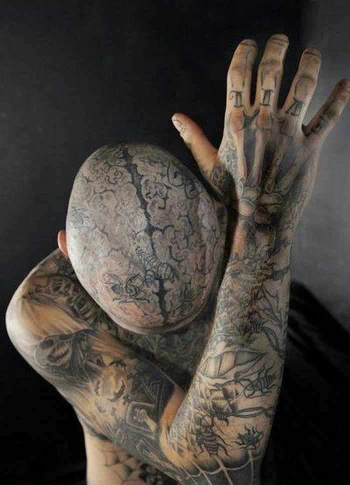 Zombie Boy Rick Genest : Full Body Covered With Tattoo-18