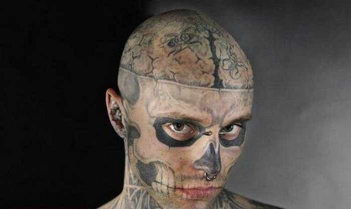 Zombie Boy Rick Genest : Full Body Covered With Tattoo-19