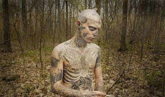 Zombie Boy Rick Genest : Full Body Covered With Tattoo-20