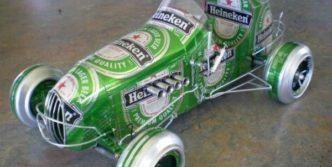 13 Pictures of Funny Cars Made of Tin Cans